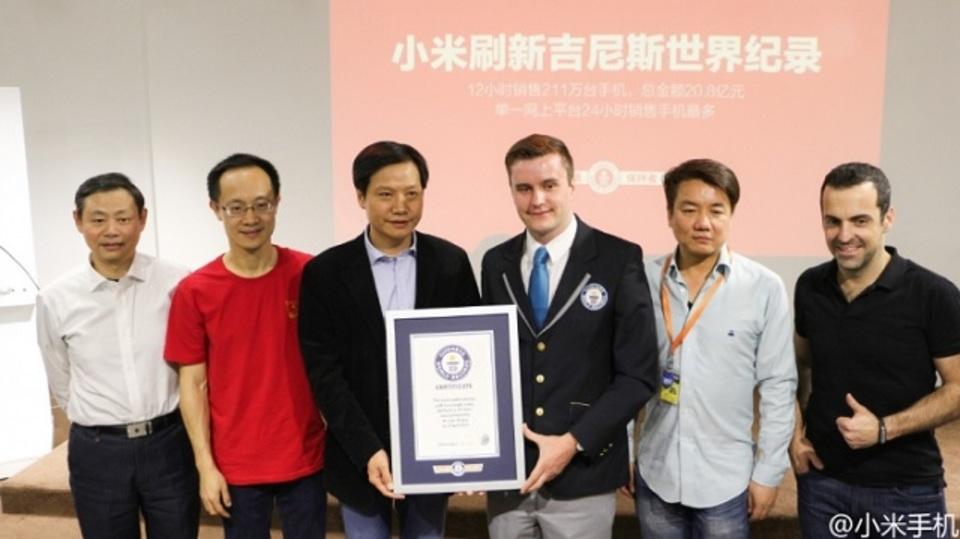 中国のXiaomi、スマホのスピード販売でギネス記録達成