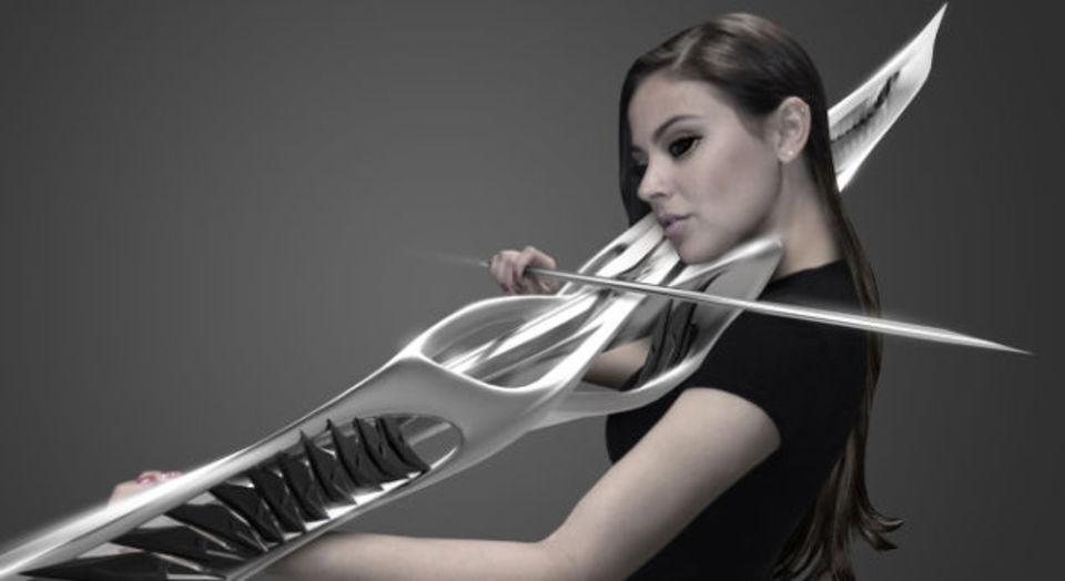 3DプリントされたバイオリンがSFすぎる