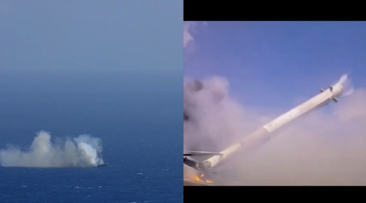 SpaceXのロケット着地失敗の決定的瞬間、ドローン船甲板から捉えた動画がリーク