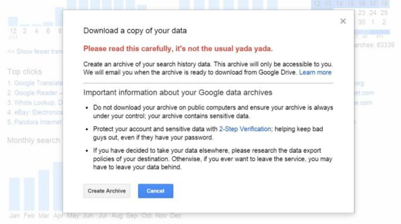 ちょっと怖い グーグルの検索履歴がダウンロード可能に ギズモード