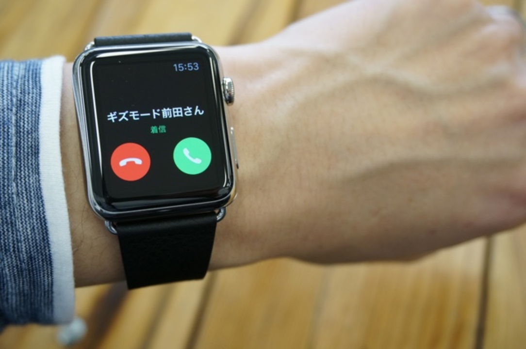 Apple Watchでの電話の受け方はこうですよ。動画で紹介 #AppleWatch