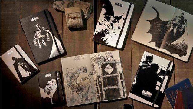 モレスキンにバットマン登場! フランク・ミラーのオリジナルイラスト版もあるよ。