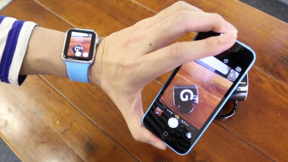 Apple WatchからiPhoneのカメラをリモート操作して写真が撮れる #AppleWatch