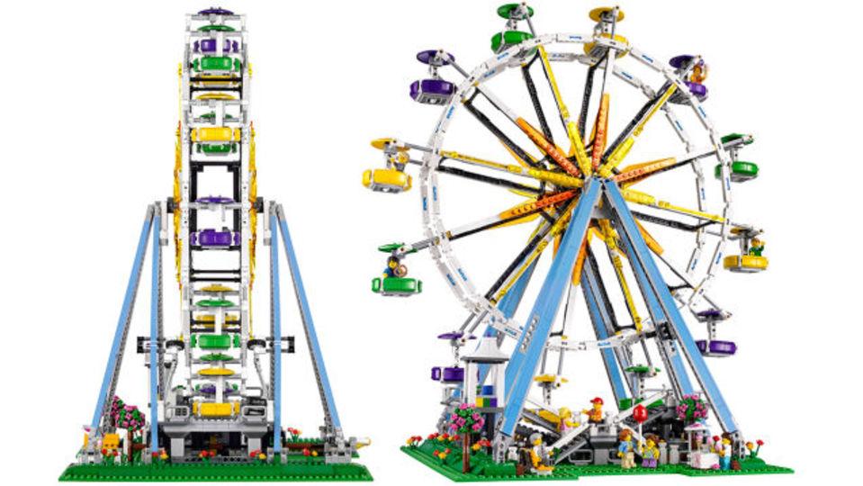 レゴで作るカラフル観覧車。誰を乗せる? 何人乗せる?