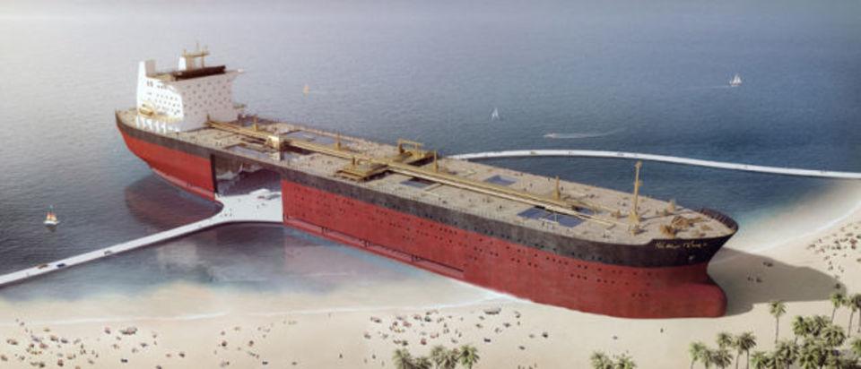 実現なるか、石油タンカーを建物として再利用するアイデア