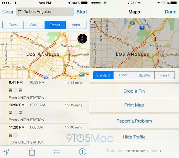 乗り換え案内、ようやくアップルの地図アプリで実現するみたいですよ