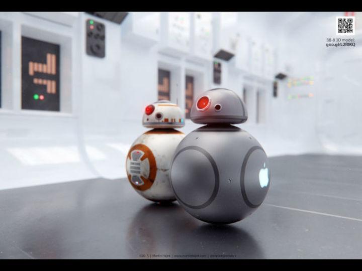 スター・ウォーズ新作の人気ドロイド「BB-8」をジョニー・アイブ風にしたら?