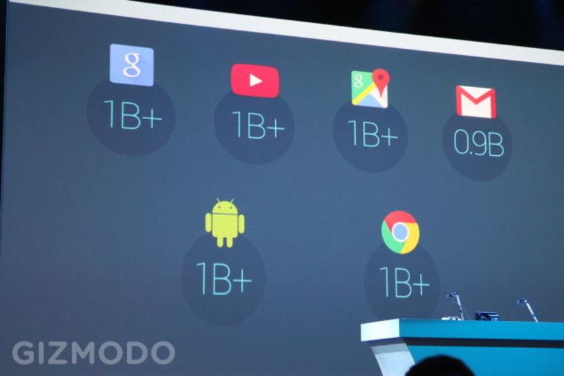 Gmailのユーザー数が9億人を超えたよ!