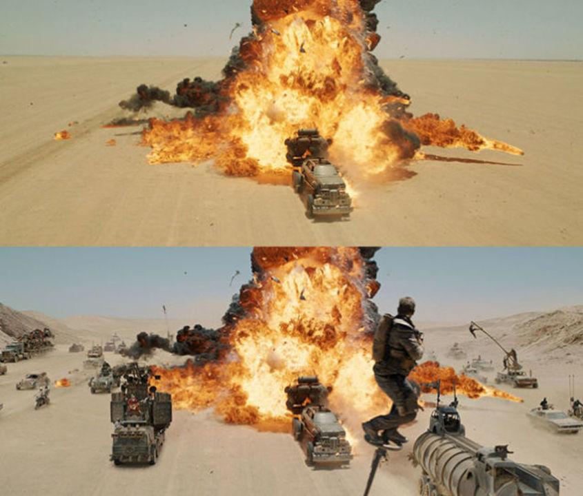 VFXもマッド。「マッド・マックス 怒りのデス・ロード」のビフォア&アフター