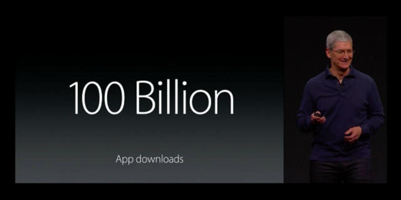 App Store、1000億ダウンロード達成! #WWDC2015