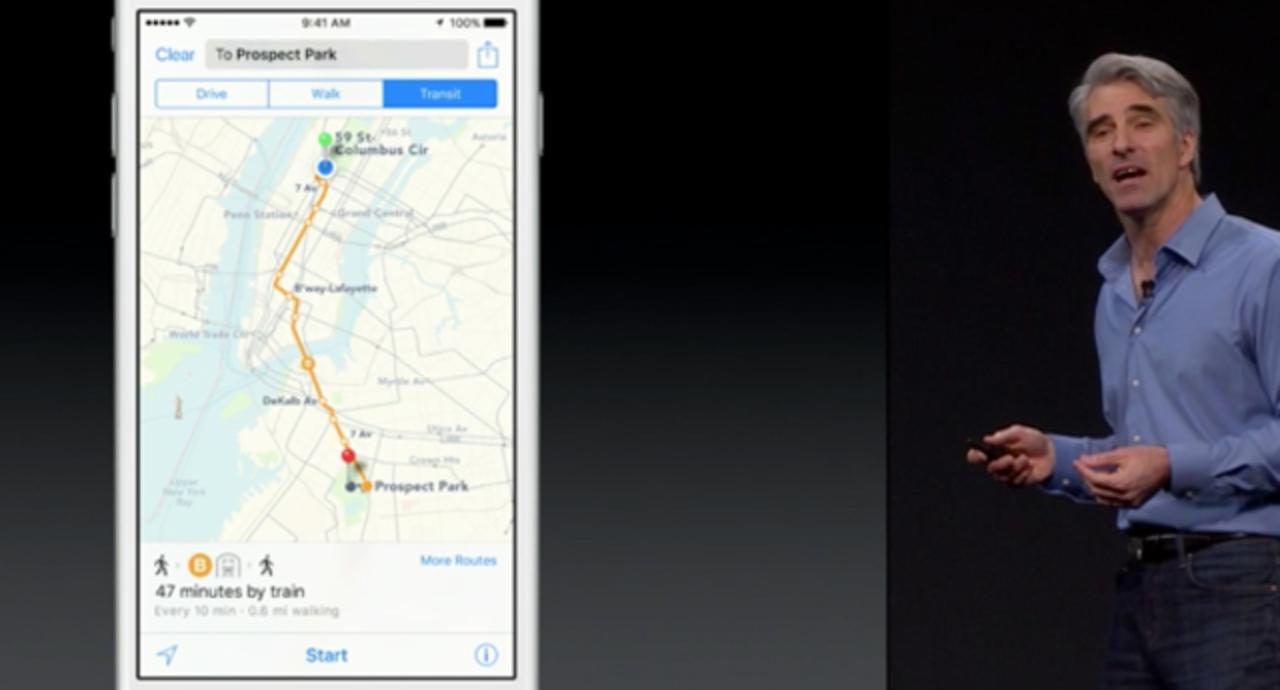 アップルのマップ、ようやく乗り換え案内に対応 #WWDC2015
