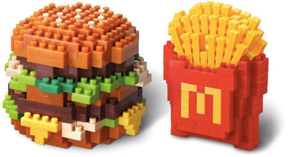 香港マクドナルド限定、ナノブロックのビッグマックやポテトが大人気