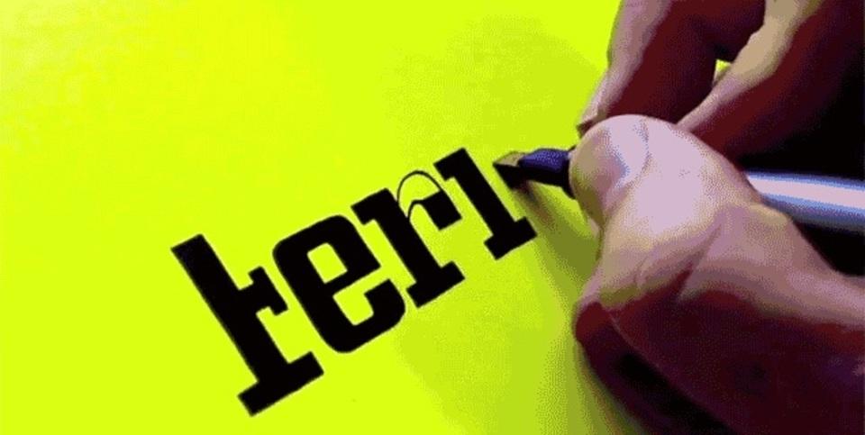 カリグラフィーの天才が描く有名企業のロゴがスゴすぎる