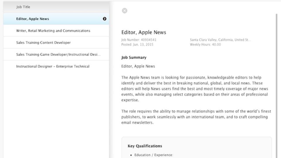 アップルの「News」アプリ、キュレーションは人力で