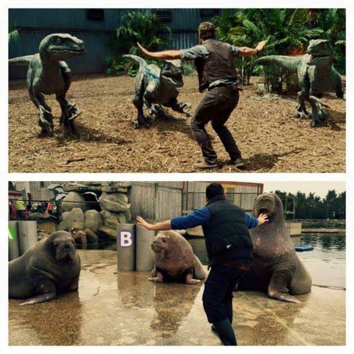 動物園の飼育員の間で流行っている「ジュラシック・ワールド」ごっこ