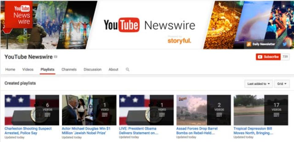 YouTubeで目撃せよ! ニュースに特化した機能「YouTube Newswire」発表