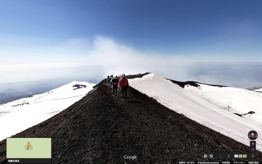 活火山に登るのは怖い? ならストリートビューで探検しよう