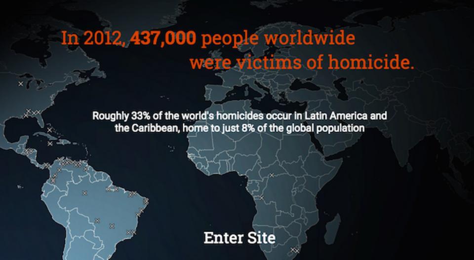 世界中の殺人事件を可視化する「Homicide Monitor」