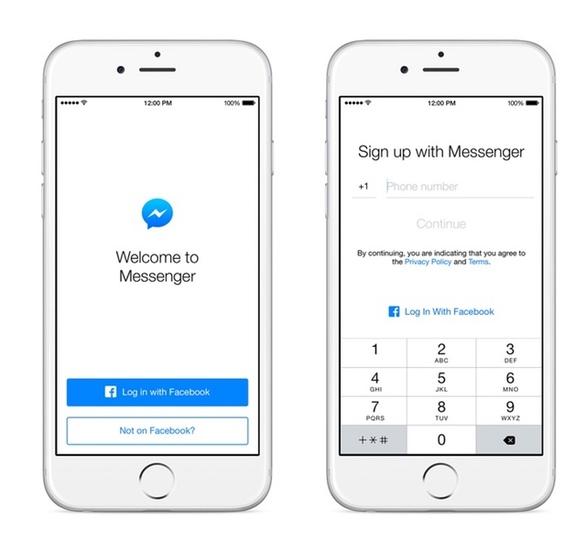 フェイスブックの「Messenger」電話番号のみで利用可能へ