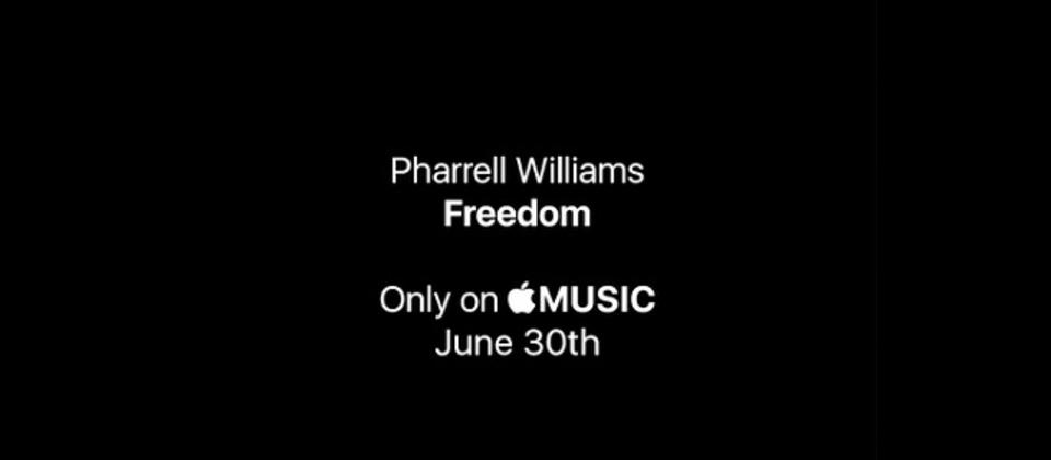 ファレルの新曲「Freedom」が聞けるのはApple Musicだけ