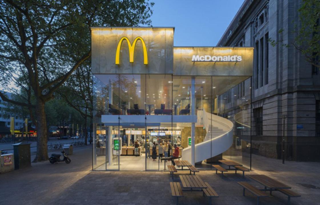 これがマクドナルド? 超モダンでお洒落なマックがオランダに現る