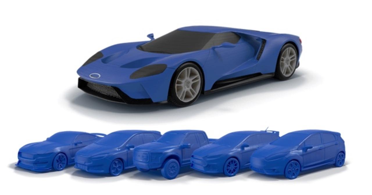 現代的ミニカー販売とでもいいましょうか。フォードが3Dプリンタ用モデルを販売