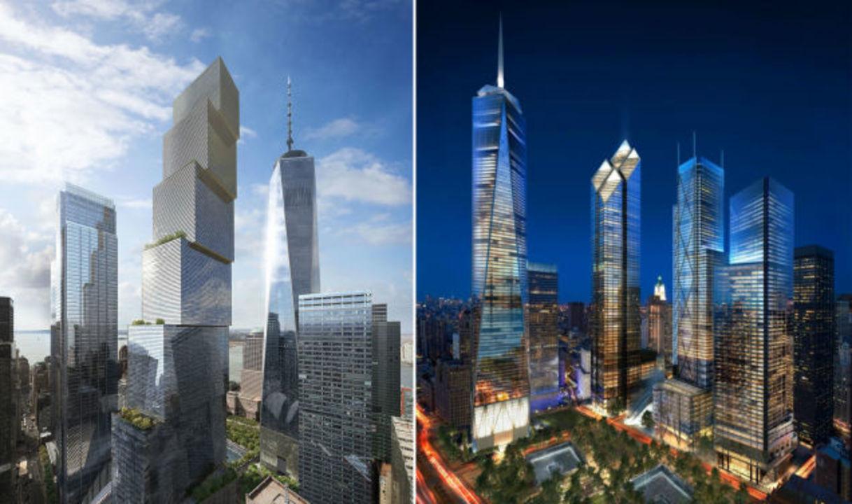 WTC超高層ビルの最終デザイン、...