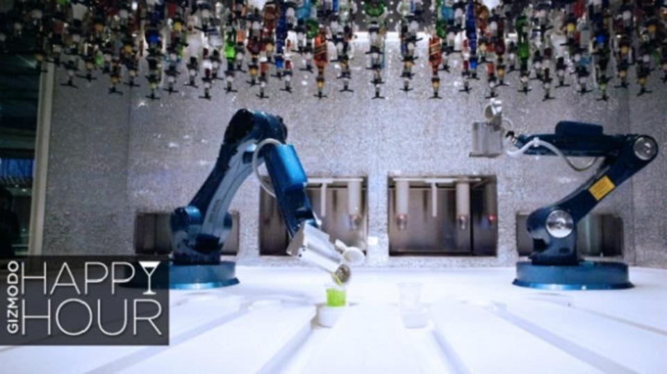 ロボットバーテンダーの作ったカクテルを飲んでみたい?