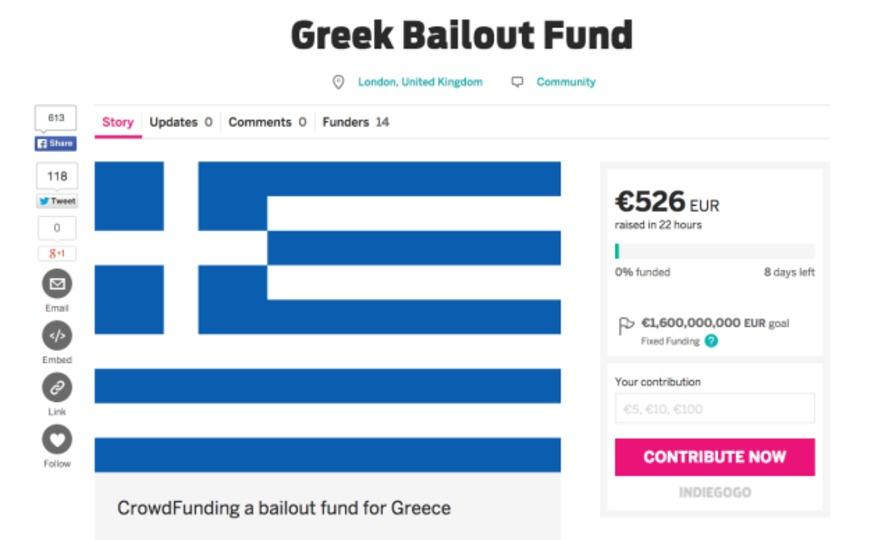 ギリシャをデフォルトから救うクラウドファンディング、目標金額2兆円