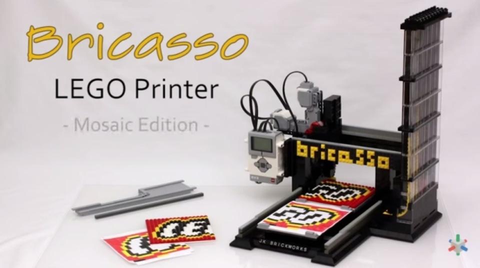 レゴでモザイク画をプリントできるレゴマシン「Bricasso」