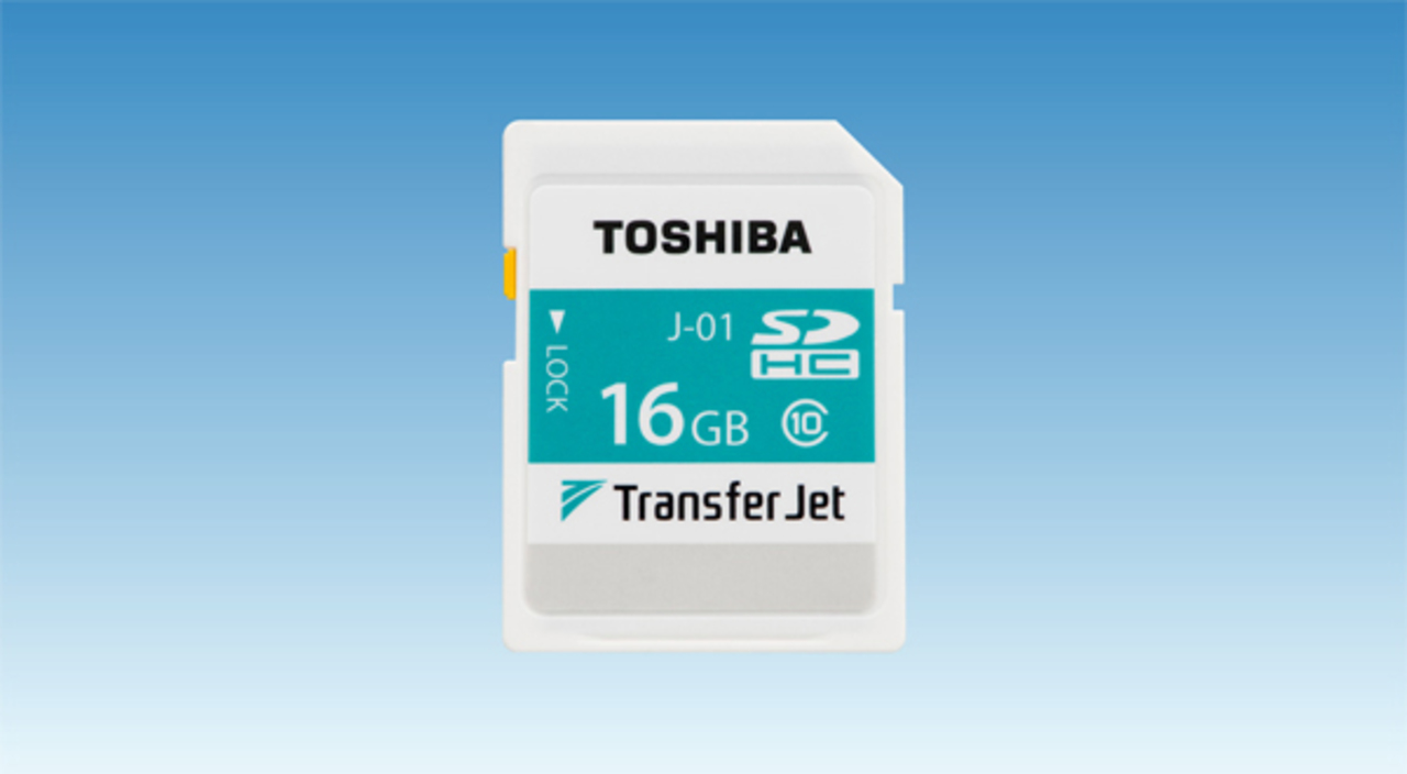 業界初のTransferJet搭載SDHCカードが登場
