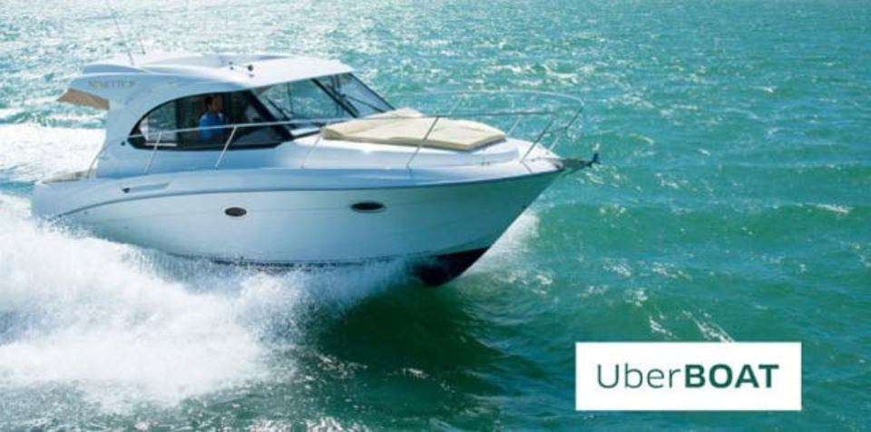 Uber、海へ