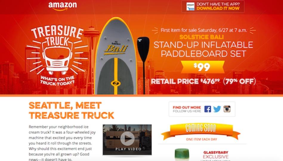 アマゾンがシアトルの街で「お宝トラック」とやらを走らせている
