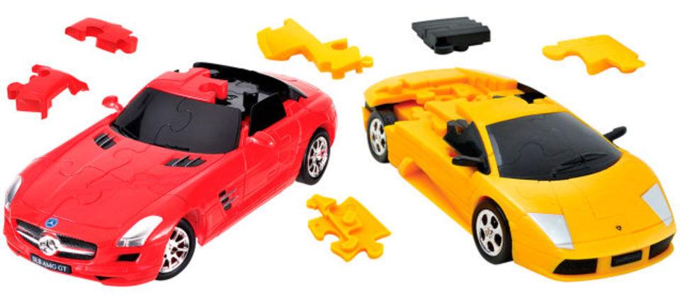 ジグソーパズルに飽きた人は3Dパズルで車を作ろうか