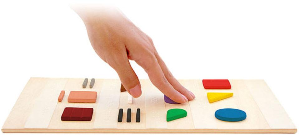 点字のような言語で色を識別するタッチ・システムが登場!