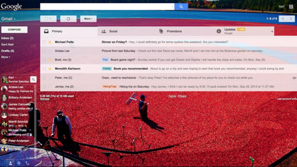 Gmailをもっと自由にカスタマイズ、絵文字も使えるよ