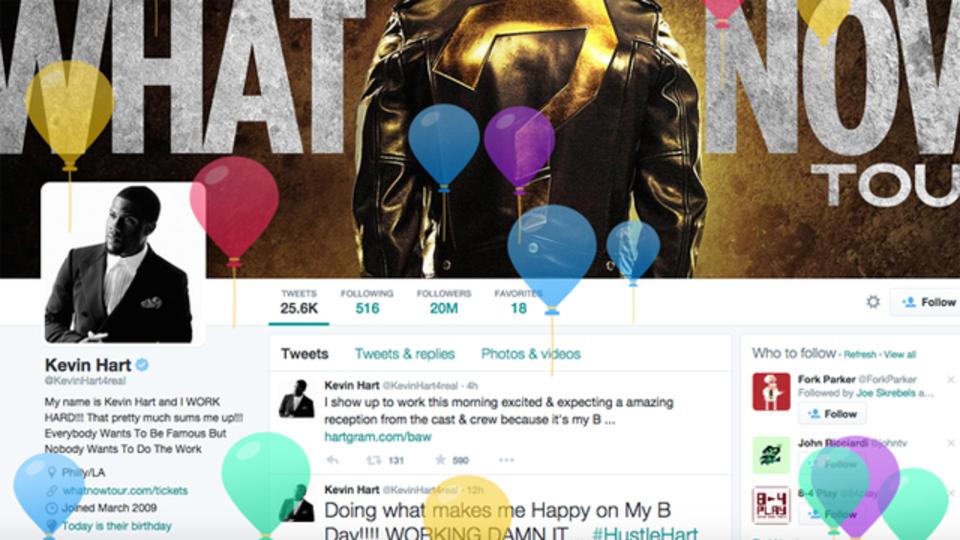 Twitterに誕生日を登録すると、風船を飛ばしてお祝いしてくれるよ。でも…