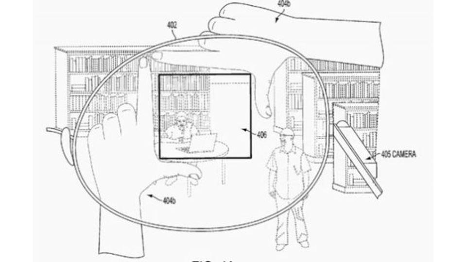 グーグルグラスは死せず。指でフレーム作って写真を撮る新特許取得