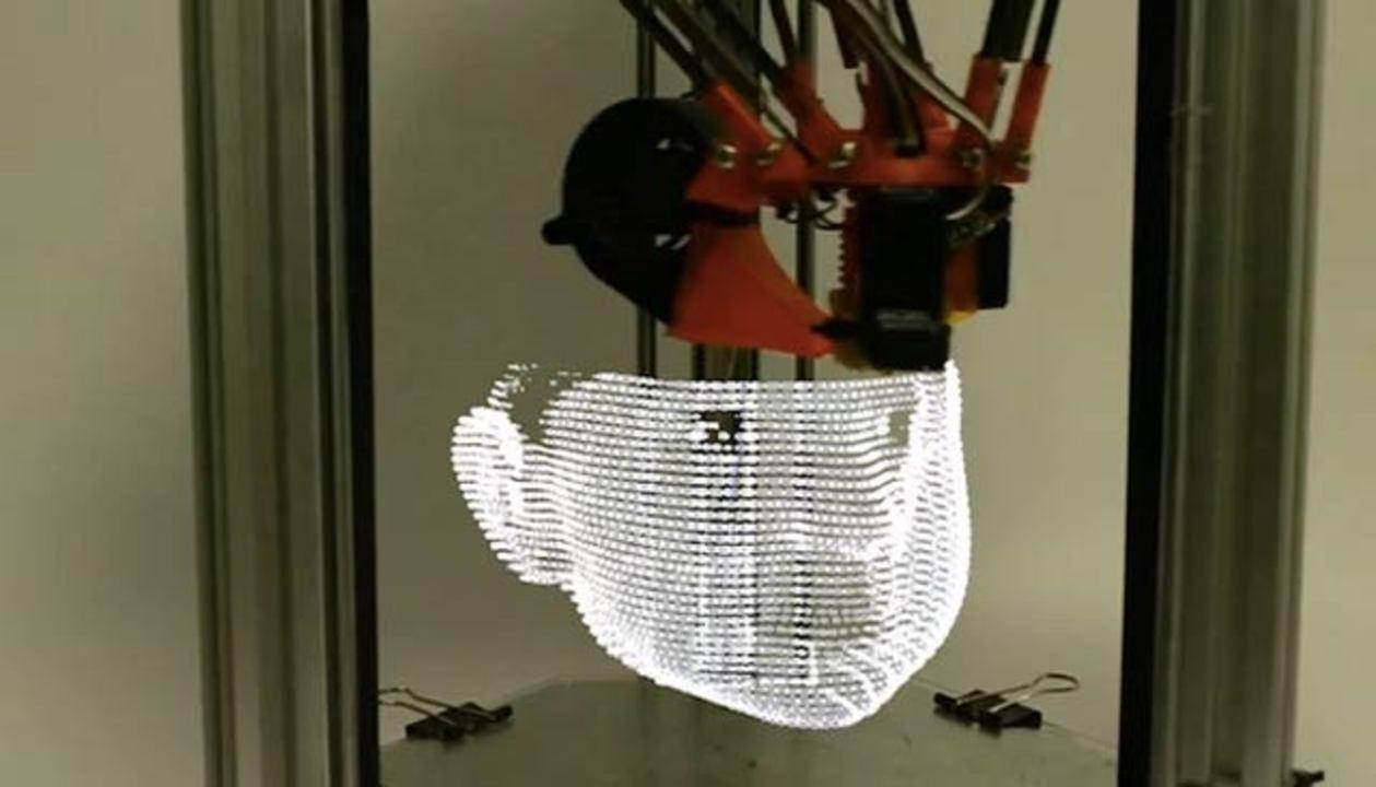 光で描く3Dプリンターがまるでアーティスト