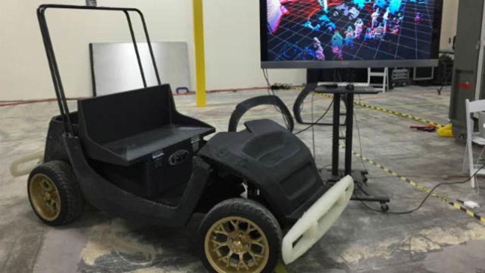 Wテクノロジー! 3Dプリントされた自動運転車