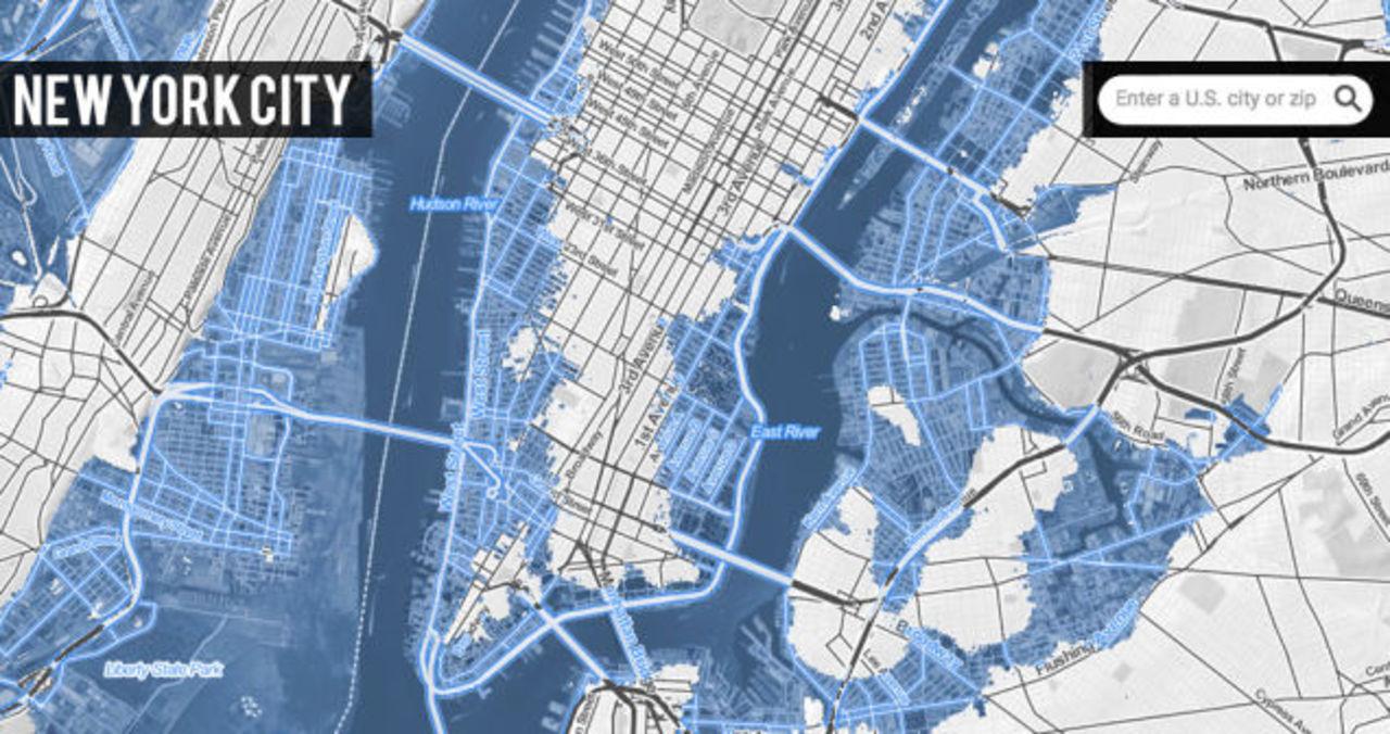 このまま地球温暖化が進んだら、水面下に沈む都市が判明しました