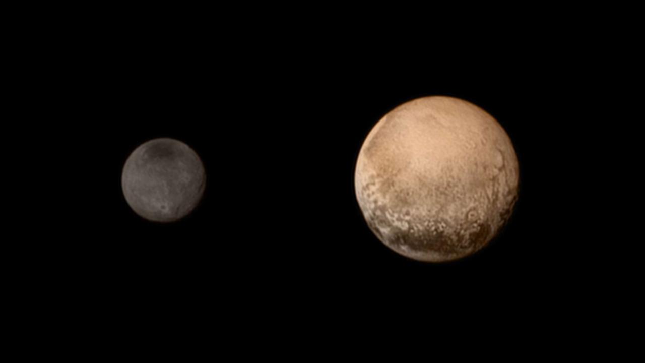 冥王星のサイズは、思ったよりも少し大きかったようです