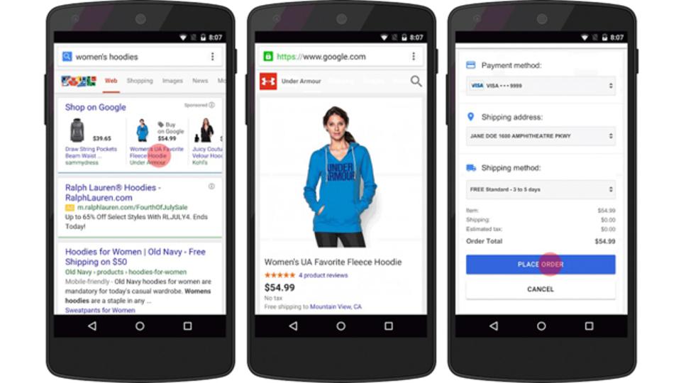 検索結果から直接買い物ができる。そう、グーグルならね