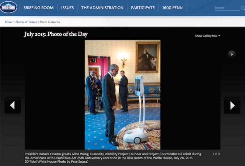 テレプレゼンスロボットが初めてオバマ大統領を訪問