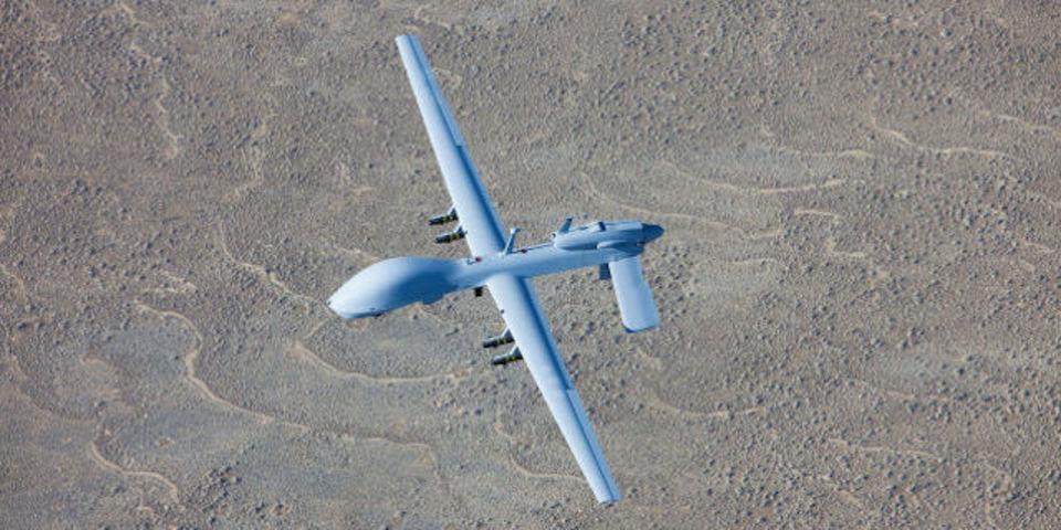イラクに墜落した無人航空機は、米軍のグレイ・イーグルだった