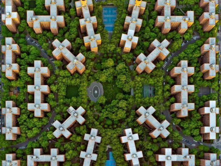 ロサンゼルスとニューヨークを空から見たら幾何学風アートだった