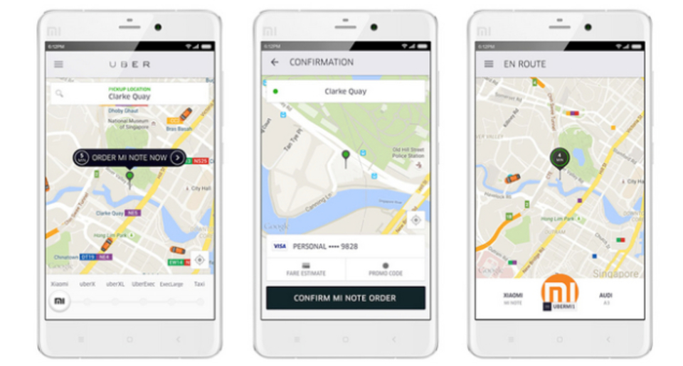 中国のスマホXiaomi、Uberに乗る