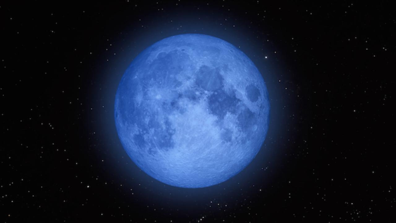 明日31日はめずらしい満月「ブルームーン」ですよ