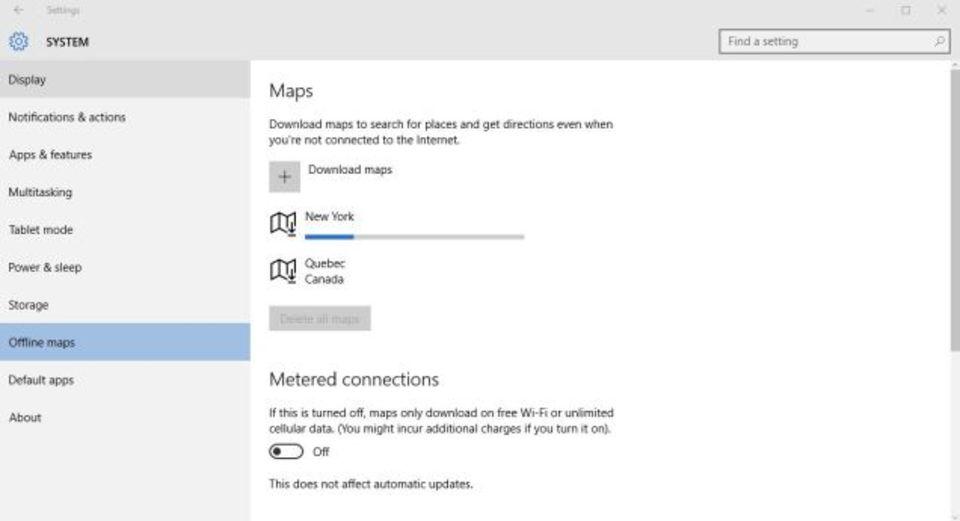 Windows 10の地図をオフラインで使う方法