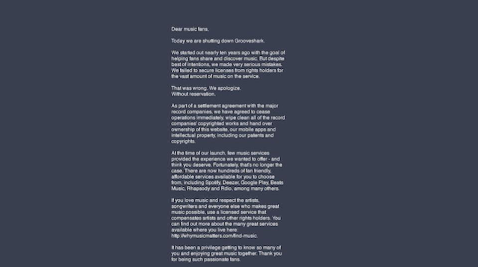 違法音楽ストリーミングサイト「Grooveshark」の共同設立者が死亡